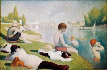 paintings-by-georges-seurat-bathers at Asnieres