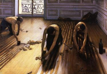 The Floor Scrappers by Gustave Caillebotte